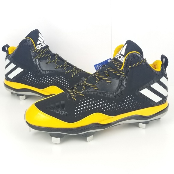 on sale ac300 ede83 adidas Men s PowerAlley 4 Mid Metal Baseball Cleat